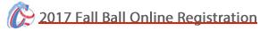 2016 FALL BALL Online Registration Form